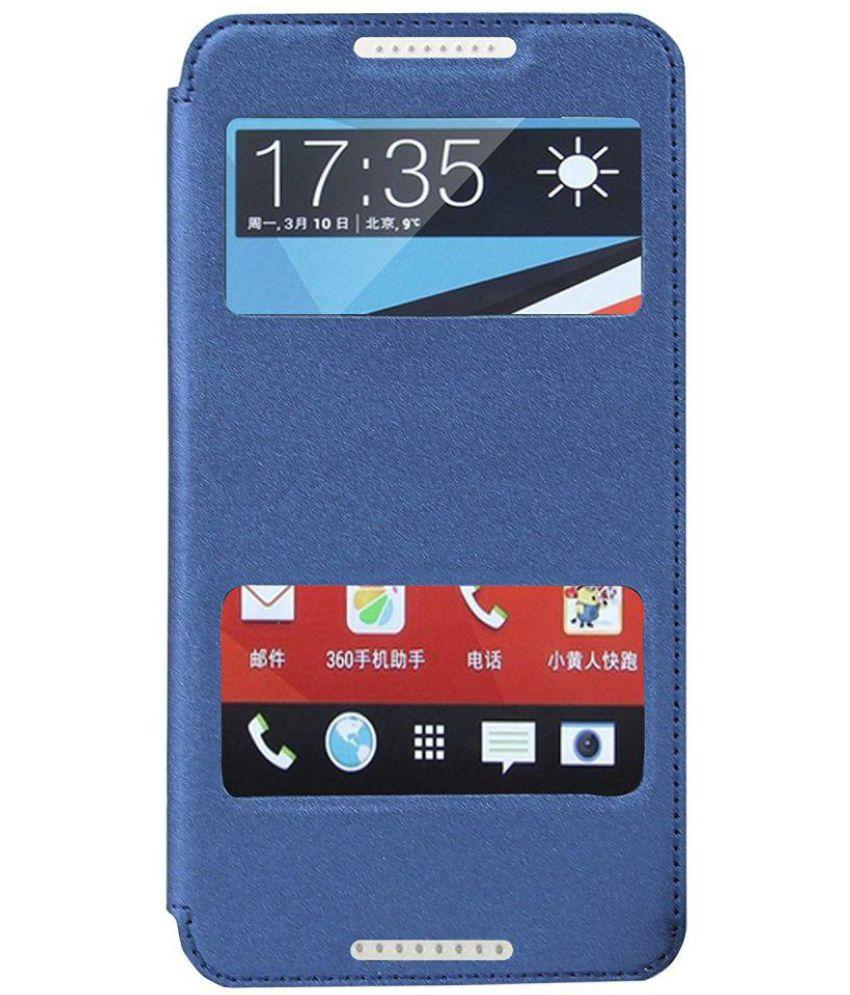 pretty nice 646d6 f07e6 HTC Desire 816G Dual Sim Flip Cover by Ziaon - Blue
