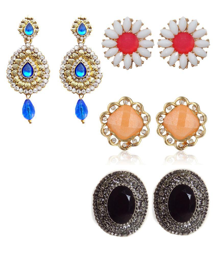Hi Look Multicolour Earrings Combo