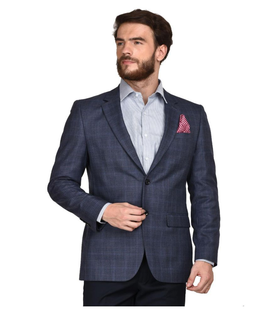 La Mode Grey Solid Formal Blazers