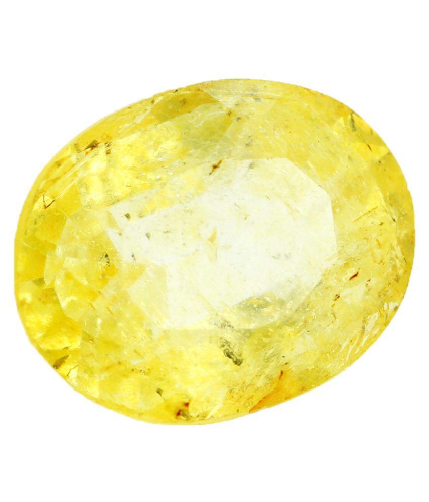 Nirvana Gems IGI Yellow Topaz Semi-precious Gemstone