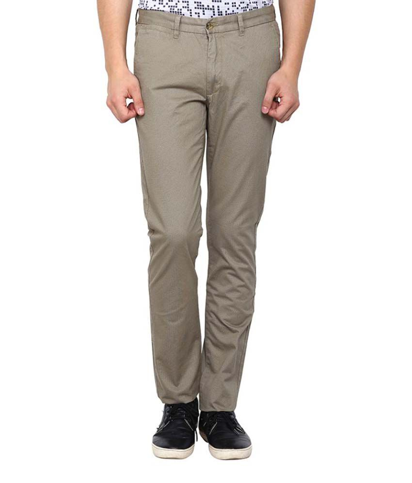 Arrow Sports Beige Regular Flat Trouser