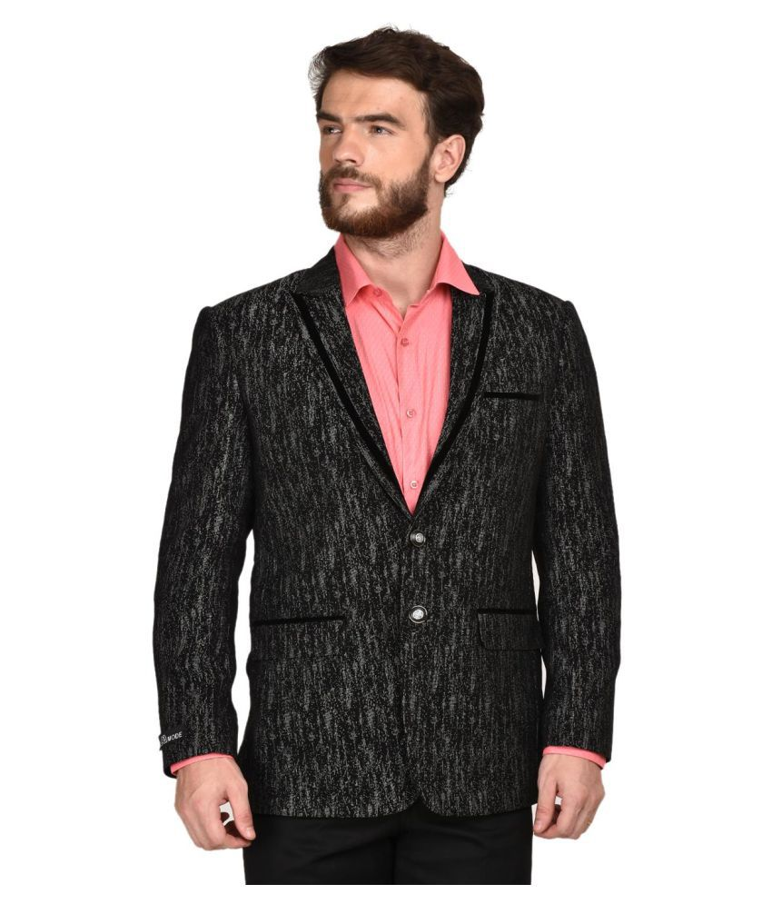 La Mode Black Washed Formal Blazers