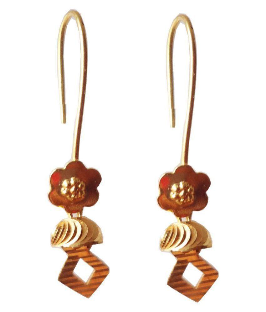 SSJ 22k Gold Hanging Earrings