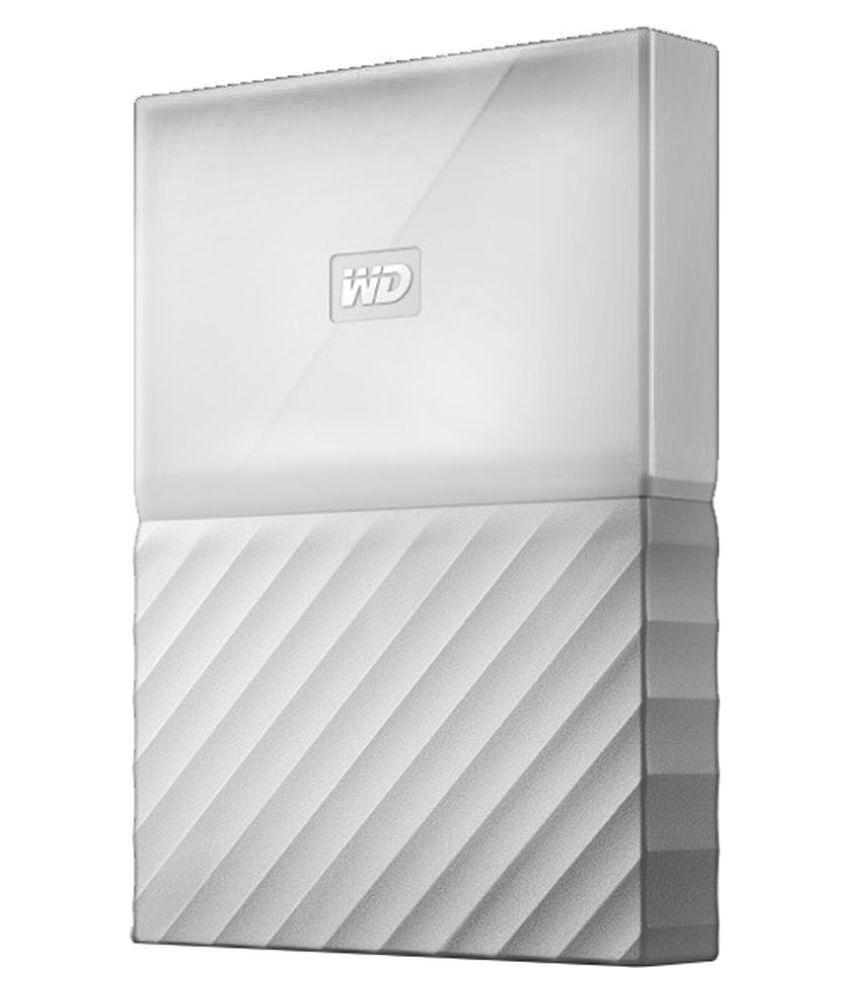 WD My Passport 2 TB External Hard Drive (White)