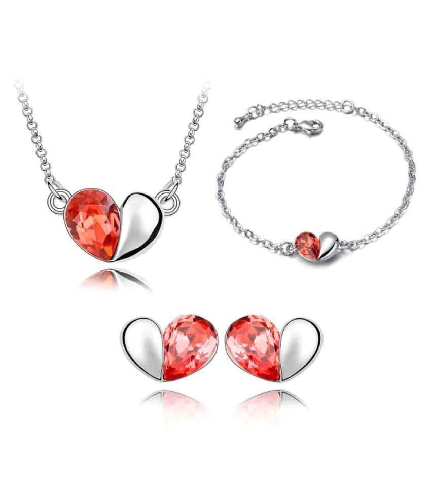 Ark International Multicolour Necklace Set with Bracelet