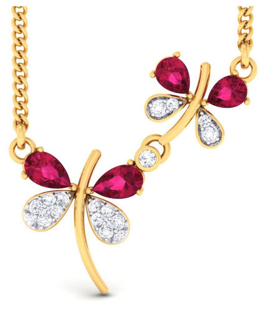 P.N.Gadgil Jewellers 18k BIS Hallmarked Yellow Gold Necklace Set