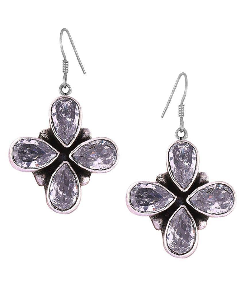 PeenZone 92.5 Silver Cubic zirconia Drop Earrings