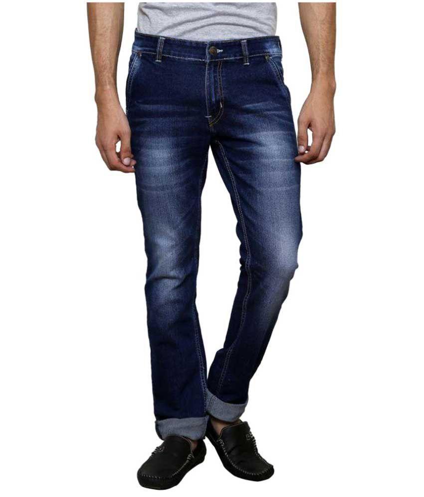SuperX Blue Slim Solid Jeans