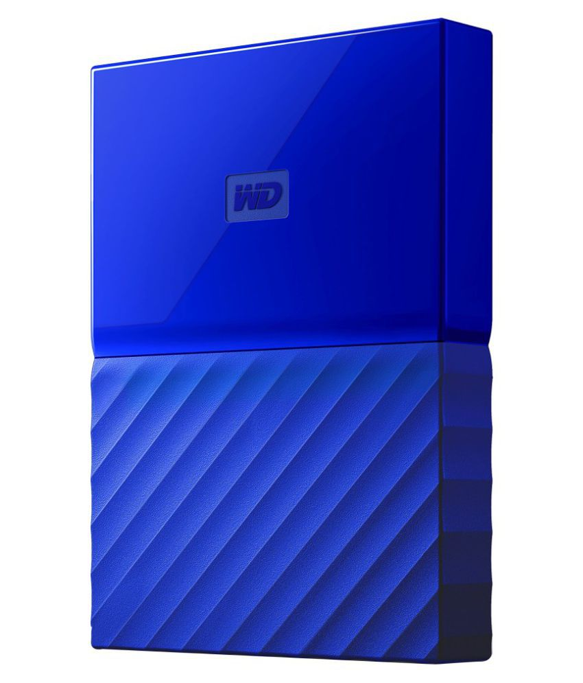 WD My Passport 1 TB External Hard Drive (Blue)