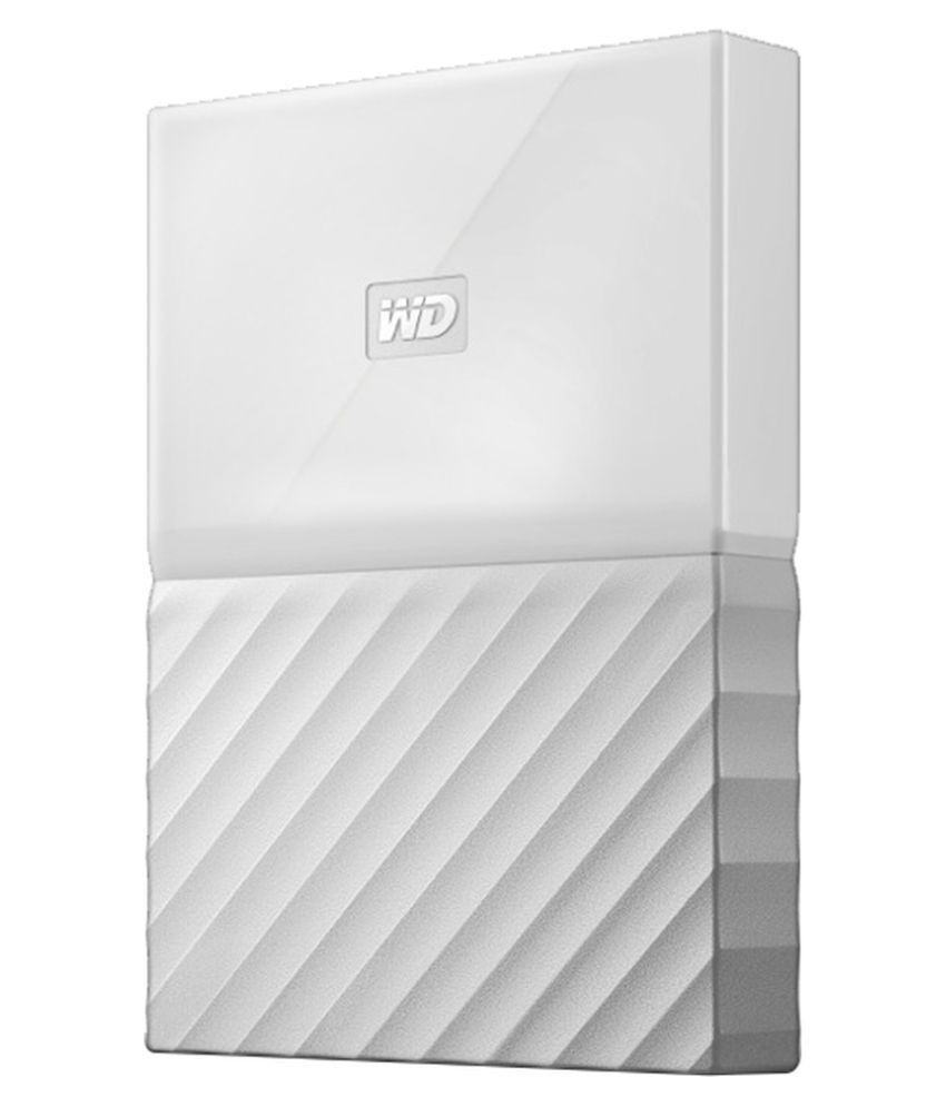 WD My Passport 1 TB External Hard Drive (White)
