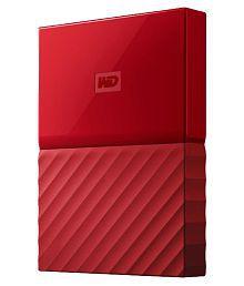 WD My Passport 1 TB External Hard Drive (Red)
