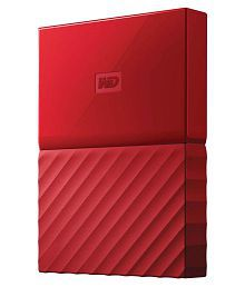 WD My Passport 4 TB External Hard Drive (Red)