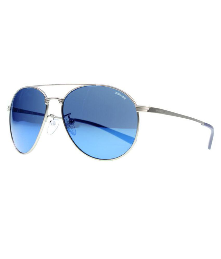ec9aee7944b2b Police Blue Aviator Sunglasses ( Police-S8953-581B ) - Buy Police Blue  Aviator Sunglasses ( Police-S8953-581B ) Online at Low Price - Snapdeal