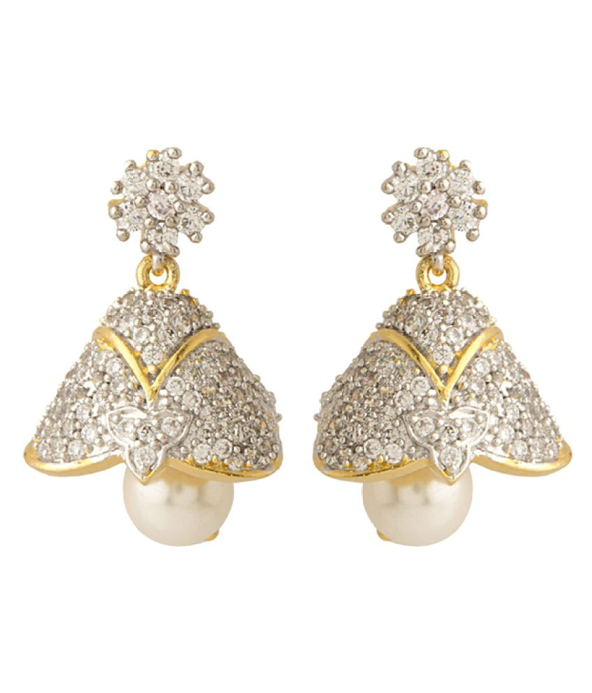 Voylla CZ Embellished Classy Pair of Jhumki Earrings