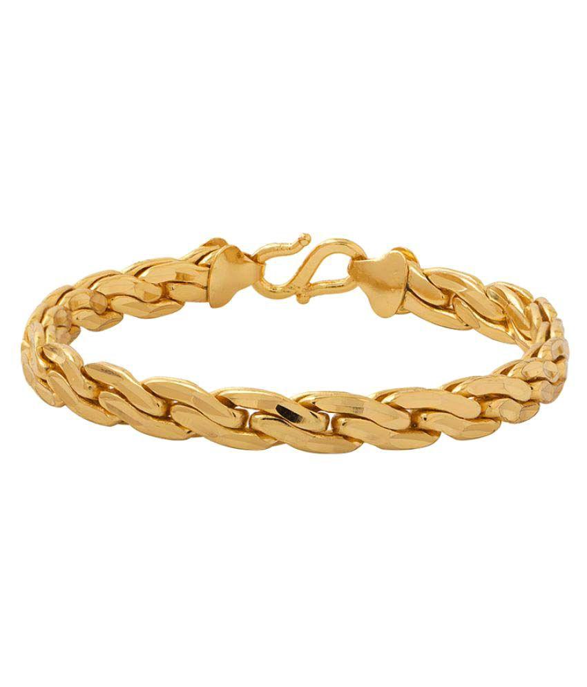 Voylla Gold Stainless Steel Bracelet