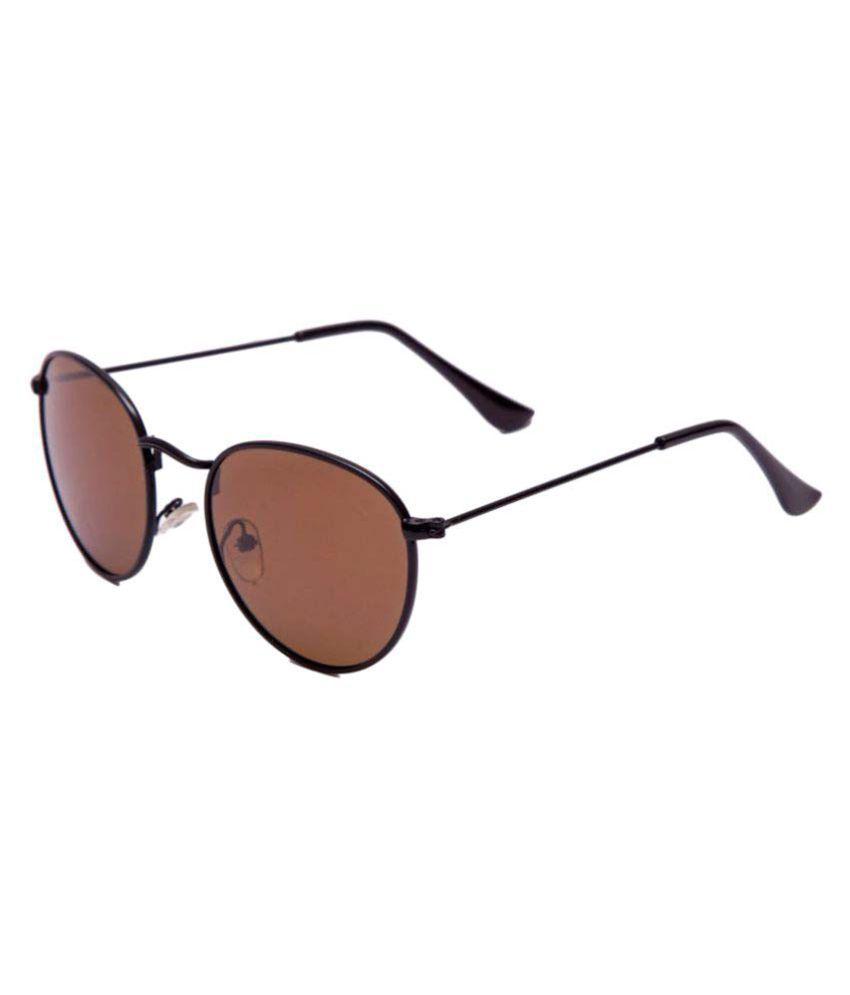 AAO+ Brown Round Sunglasses ( p6025 )