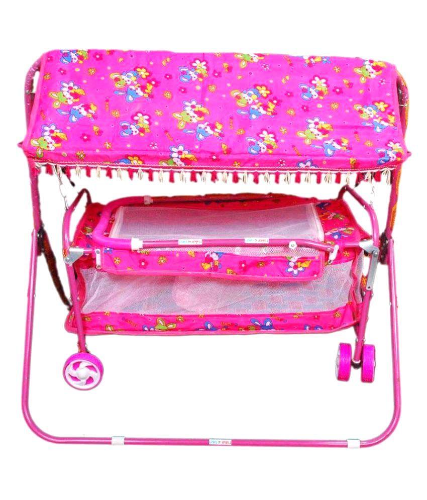 Digital Enterprises Pink Cotton Baby Cradle