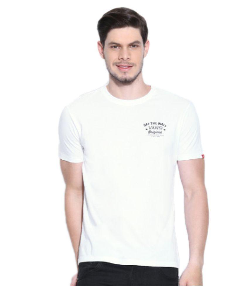 Vans White Round T-Shirt