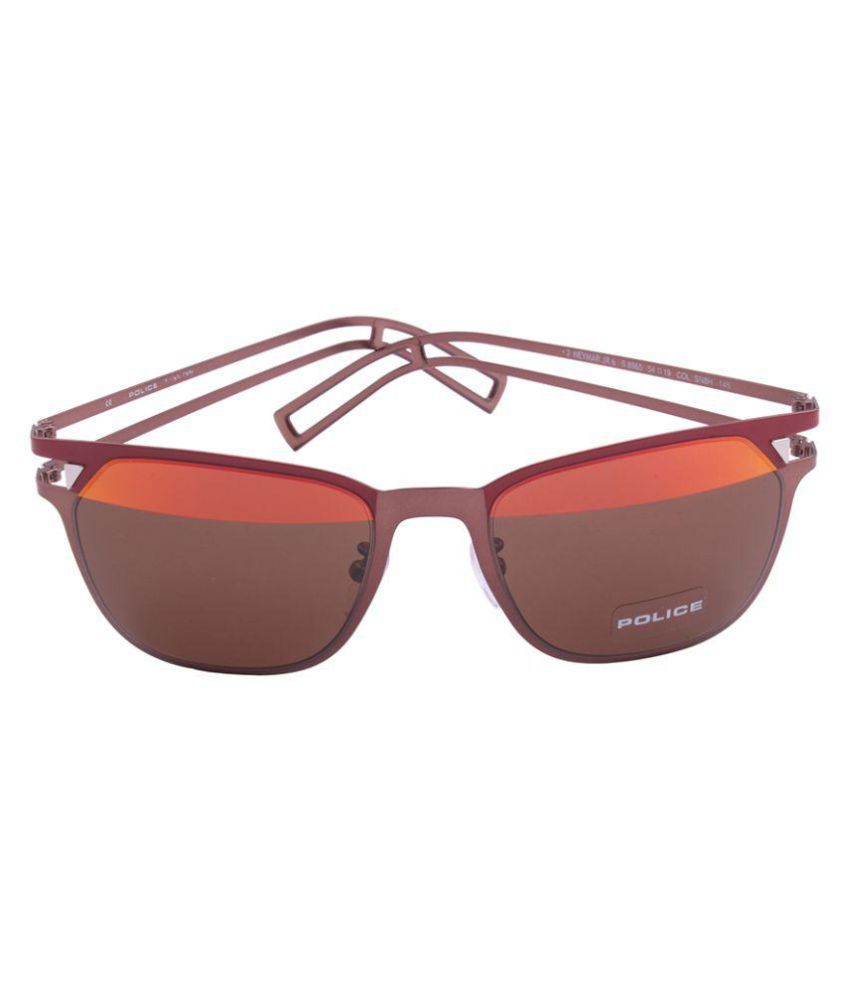 red wayfarer sunglasses uqw9  Police Red Wayfarer Sunglasses  Police-S8965-SN8H