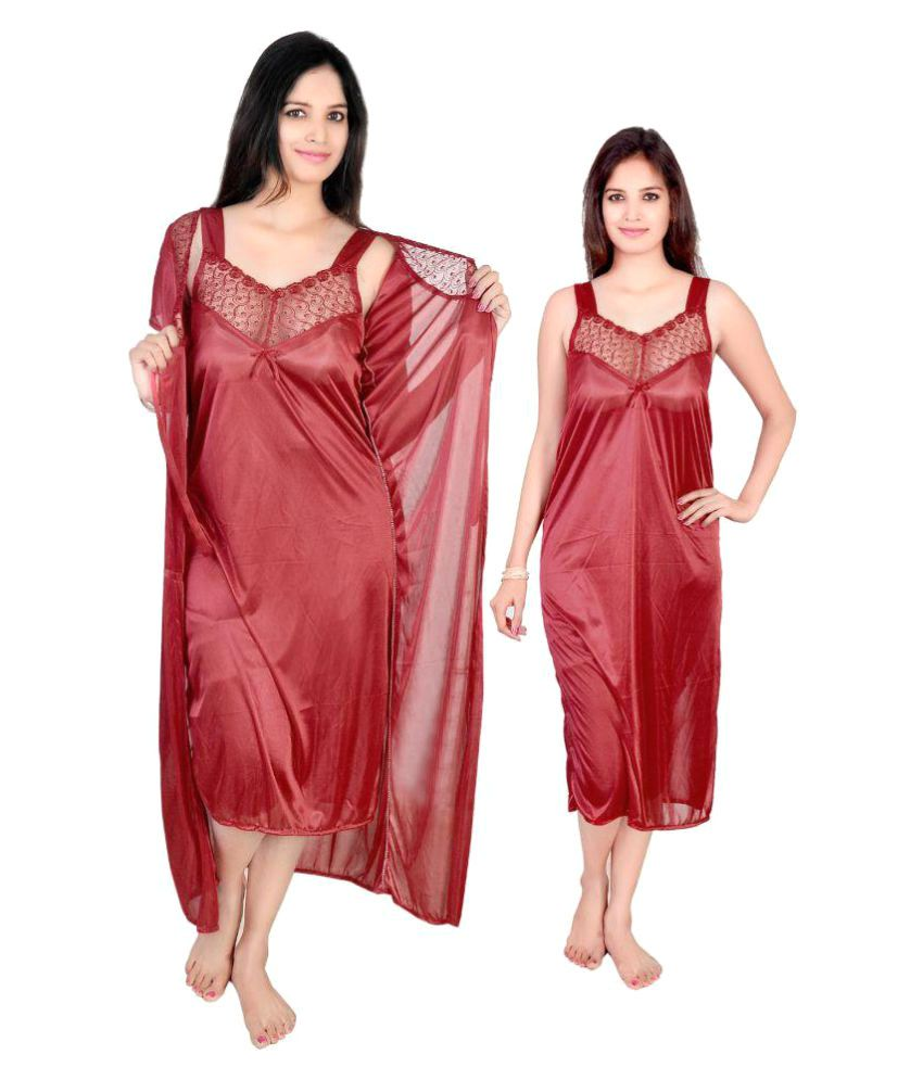 Krazy Katz Poly Satin Nighty & Night Gowns