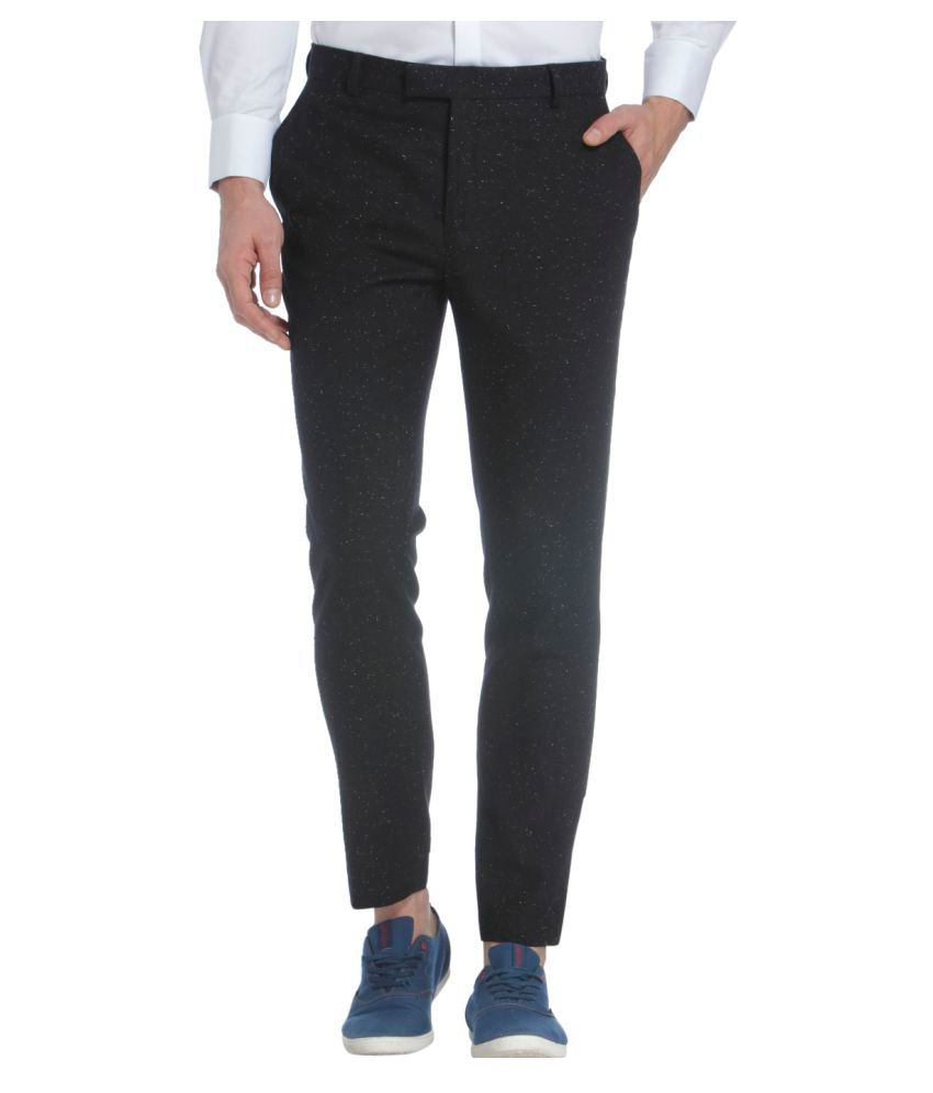 Jack & Jones Black Slim Flat Trouser