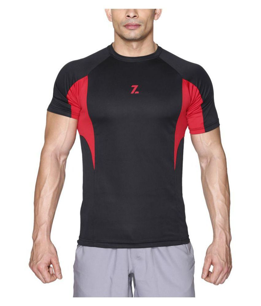 Azani Men's Sub-Zero Tech Short Sleeve T-Shirt Black Red