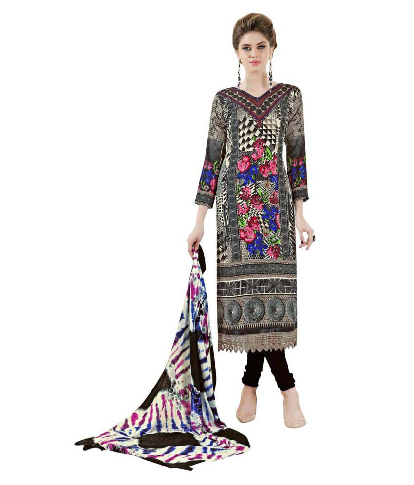 Rosaniya Multicoloured Woollen Dress Material