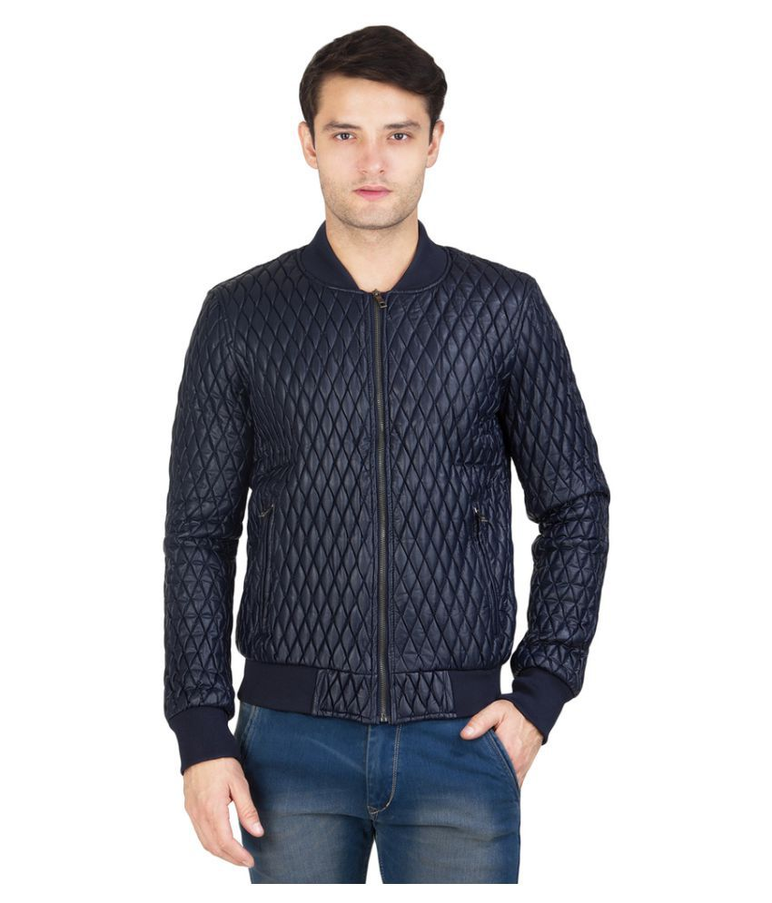 Burdy Navy Quilted Bomber Jacket Buy Burdy Navy Quilted Bomber