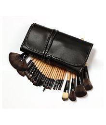 Premium Makeup brush set High Quality Timber Handle Professional Makeup Artist Brush Tool Kit (24 pcs)