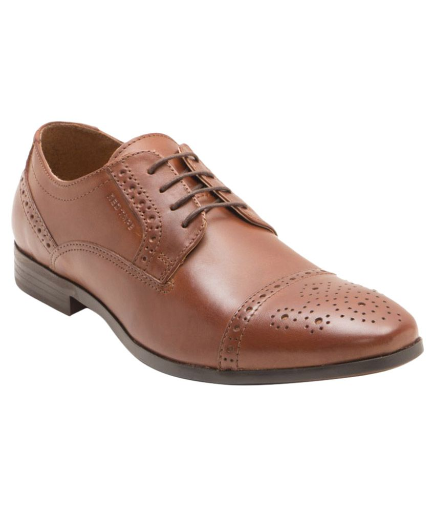 Red Tape Tan Brogue Genuine Leather Formal Shoes
