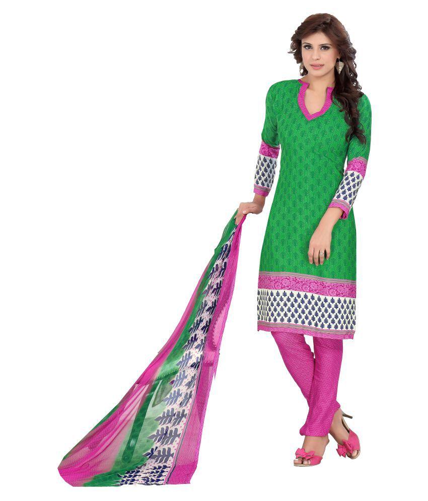 Designer Salwar Suits Multicoloured Silk Dress Material