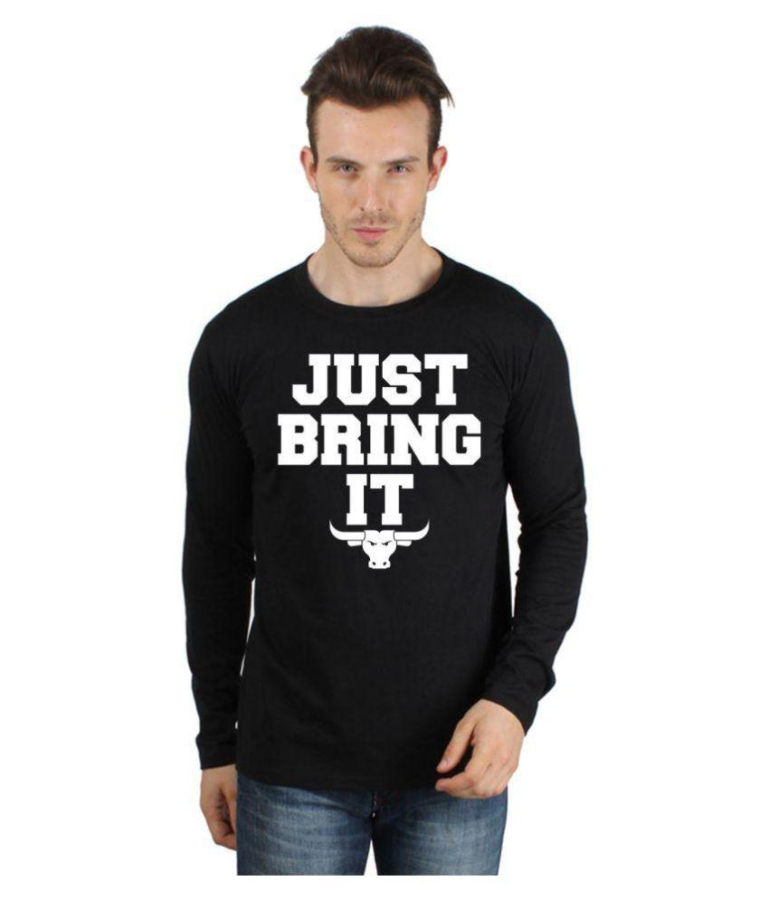 Say it loud Black Round T-Shirt