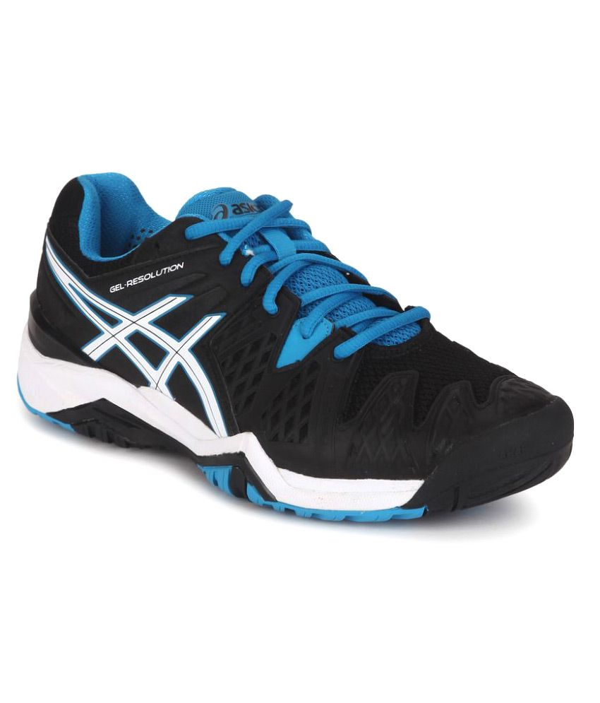 32899c09bbeb6 Asics Gel-resolution 6 Black Tennis Shoes - Buy Asics Gel-resolution 6  Black Tennis Shoes Online at Best Prices in India on Snapdeal