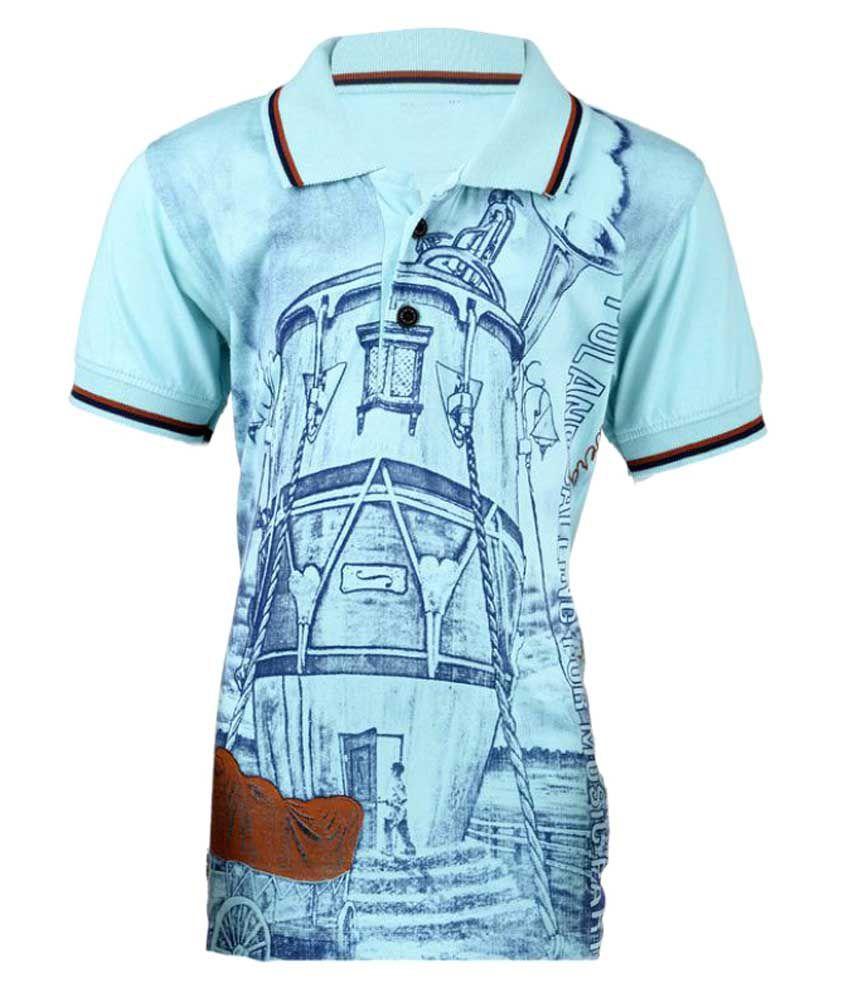 Msg Aqua Color Polo Neck T Shirt For Boys Buy Msg Aqua Color Polo