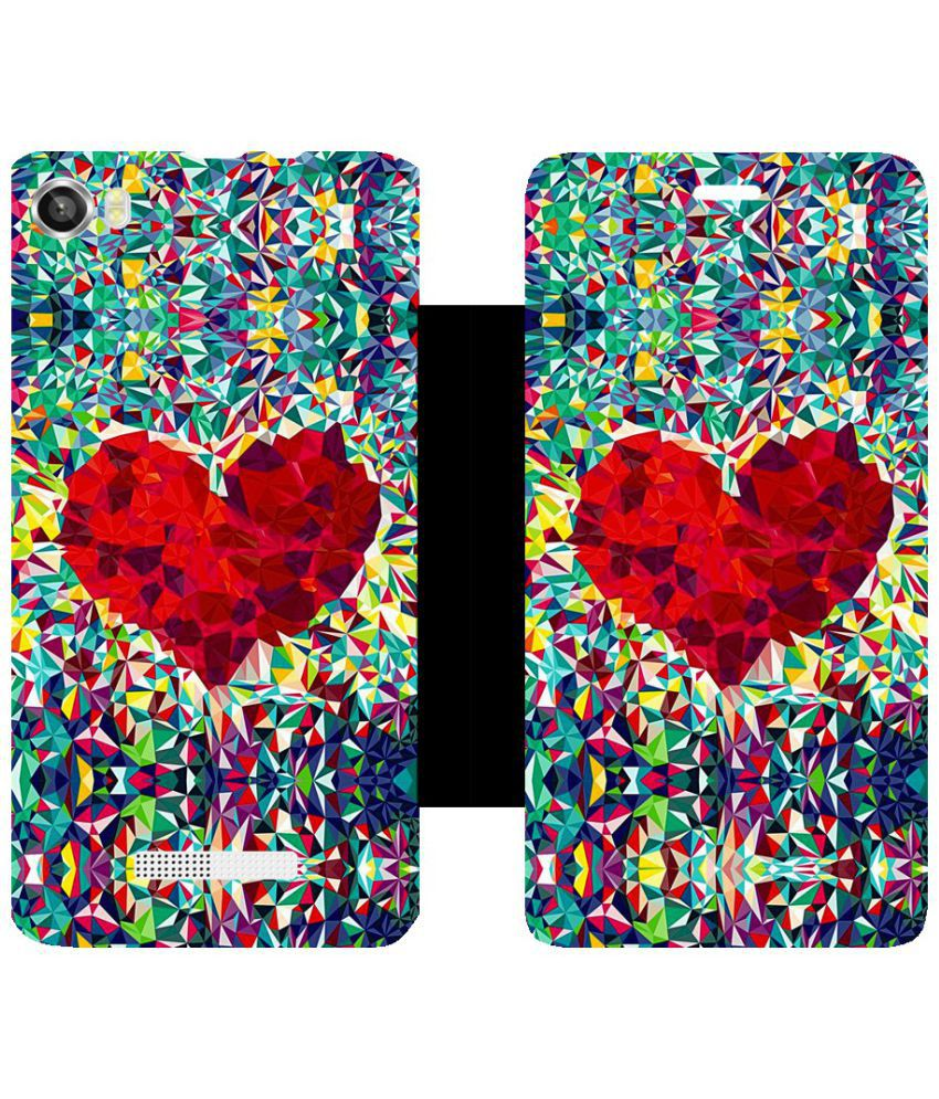 Lava X8 Flip Cover by Skintice - Red