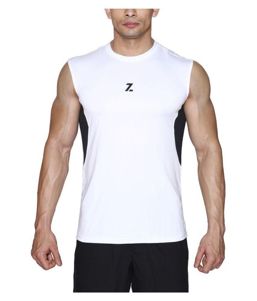 Azani Men's SubZero Tech Sleeveless T-Shirt Black/White