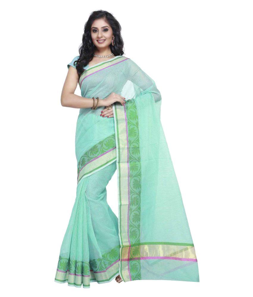 Rajnandini Green Kora Silk Saree