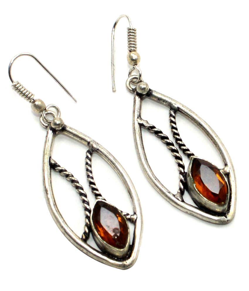 Silvesto India Multicolour Hanging Earrings