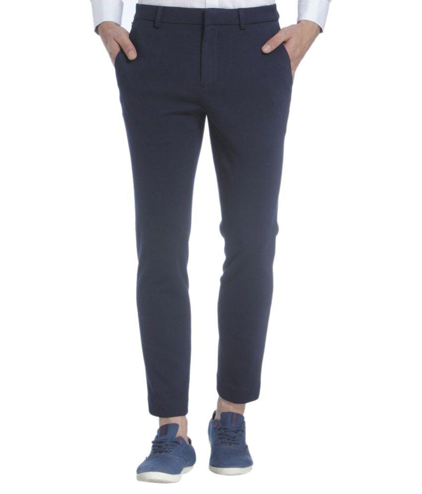 Jack & Jones Blue Slim Flat Trouser