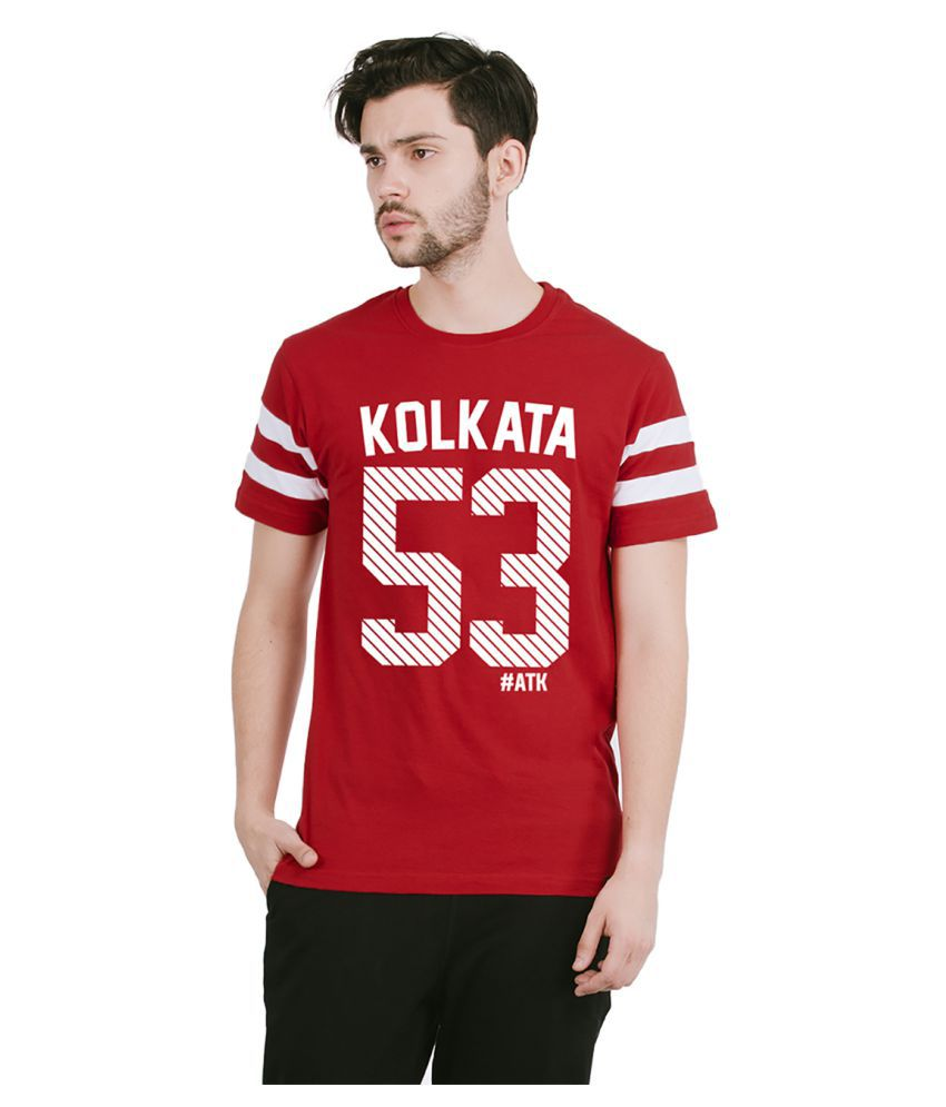 Bewakoof Red Round T-Shirt