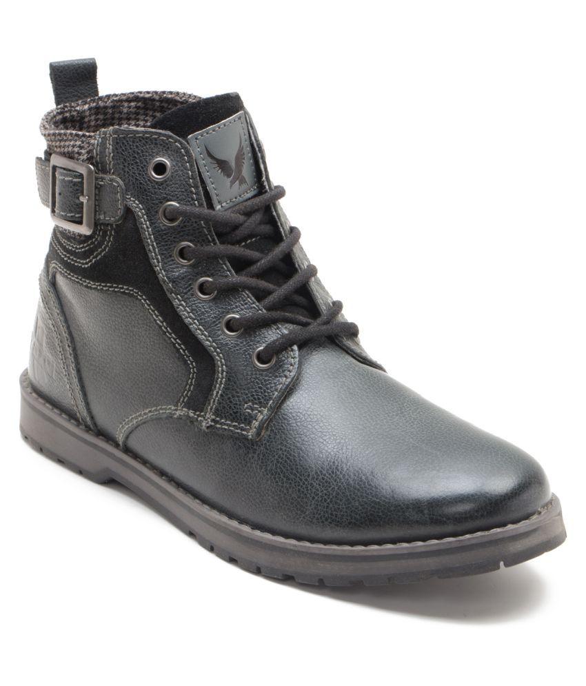 Yezdi Black Casual Boot