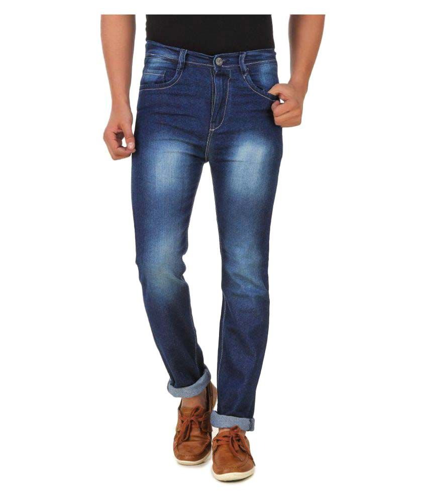 Montare Dark Blue Regular Fit Faded