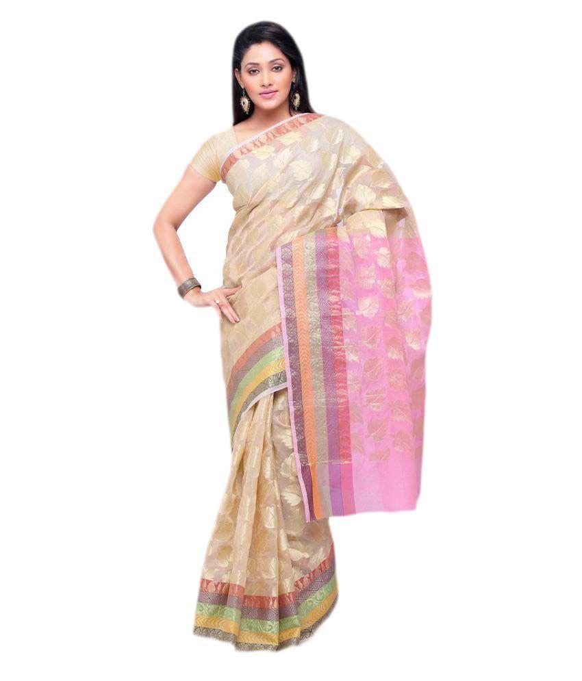 Rajnandini Multicoloured Bhagalpuri Cotton Saree