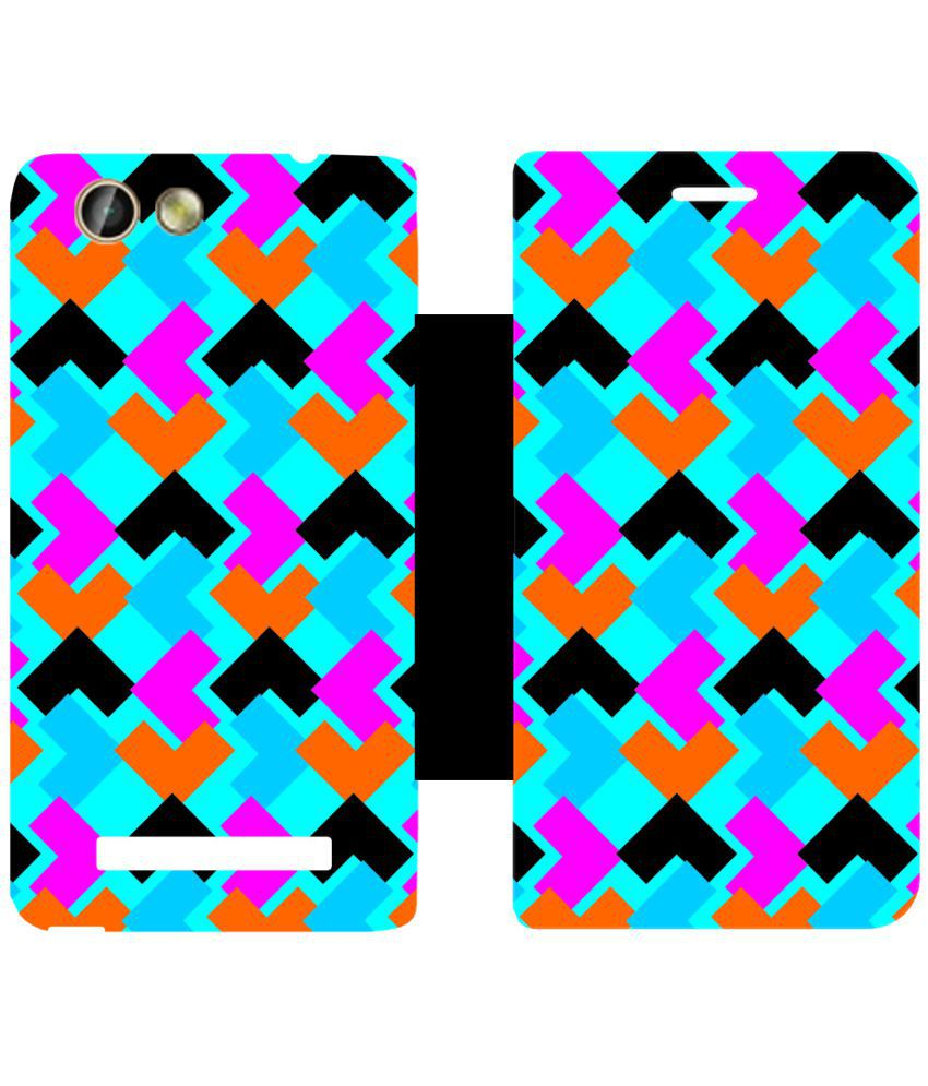 Gionee F103 Pro Flip Cover by Skintice - Multi