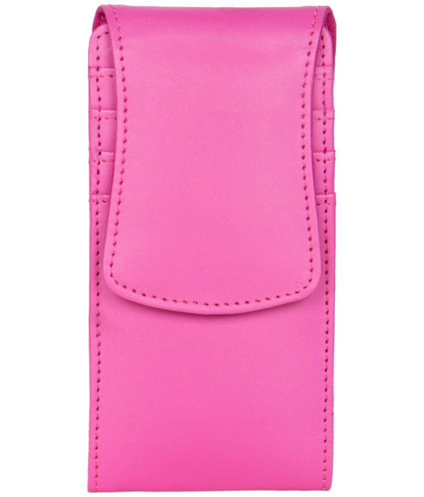 Videocon A52 Holster Cover by Senzoni - Pink