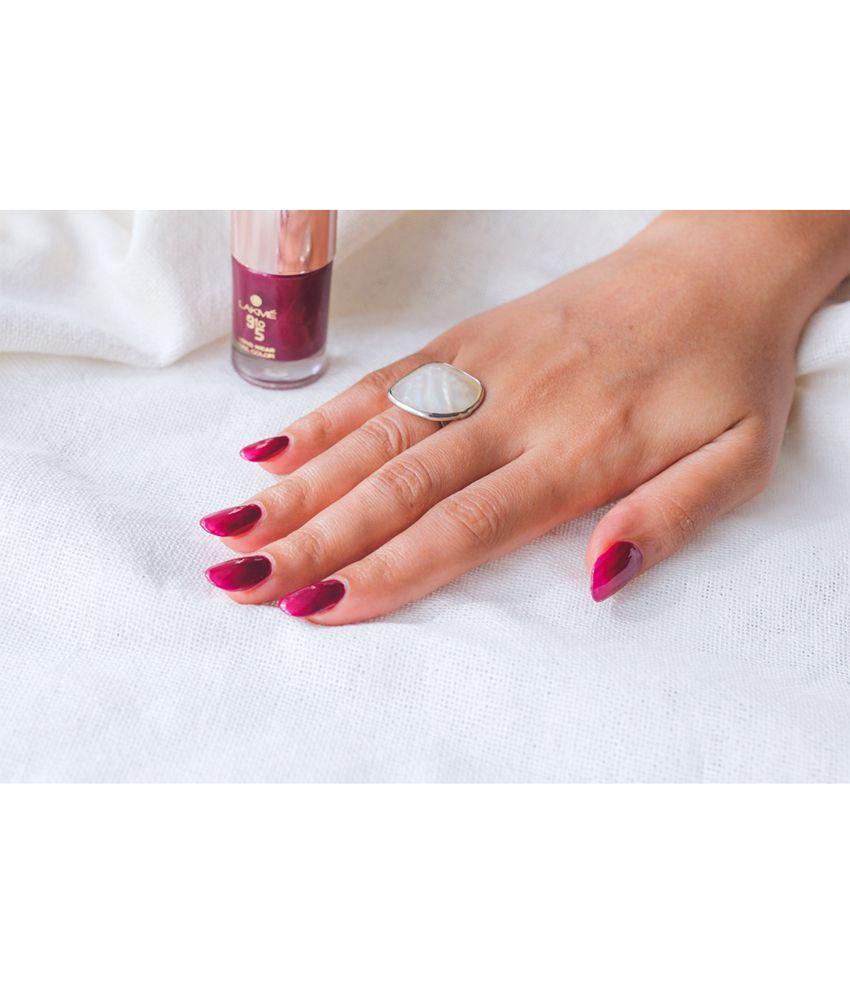 Gel Nail Polish Lakme: Lakme 9 To 5 Long Wear Nail Color, Purple Depth, 9 Ml: Buy