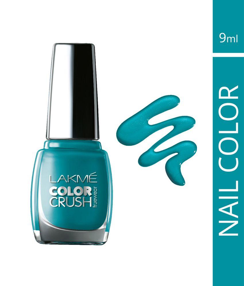 Lakme True Wear Color Crush Nail Color, Blue 27, 9 Ml: Buy