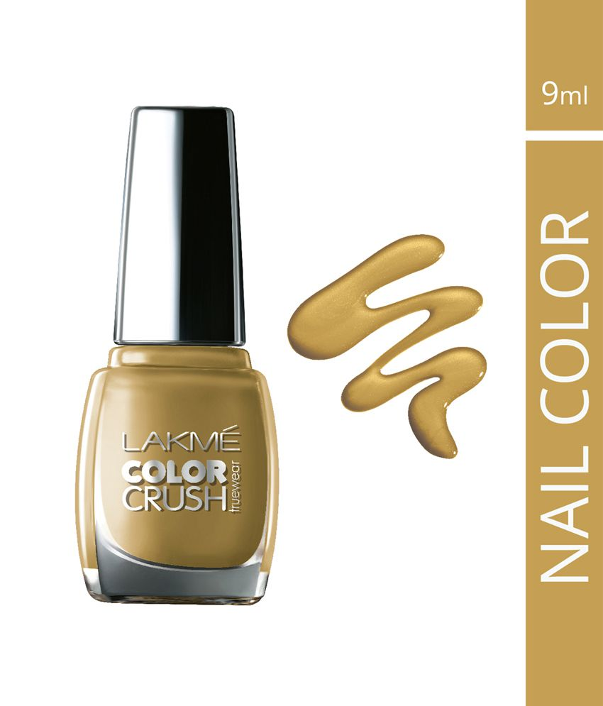 Lakme True Wear Color Crush Nail Gold 01