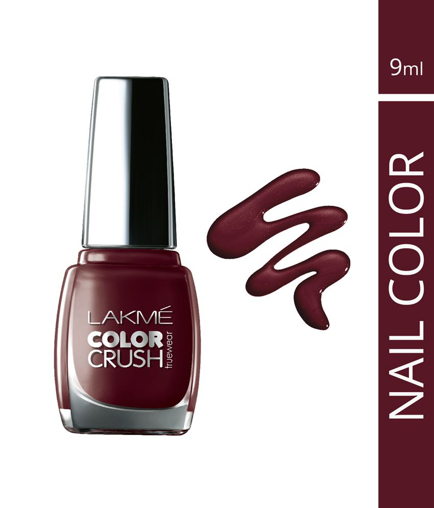 Lakme True Wear Color Crush Nail Color, Reds 33, 9 Ml