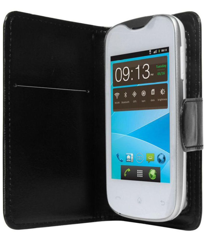 lowest price 177e0 5d175 Micromax Bolt S301 Flip Cover by STK - Black